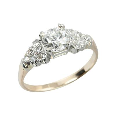 0 91 Carat Cushion Cut Diamond 14k Engagement Ring
