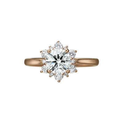 1 00 Carat Diamond Rose Gold Ring GIA Certified