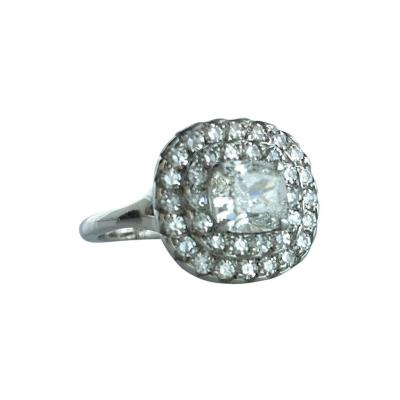 1 01 Carat Cushion Diamond Platinum Ring