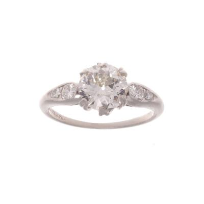 1 12 Carat Diamond Platinum Engagement Ring