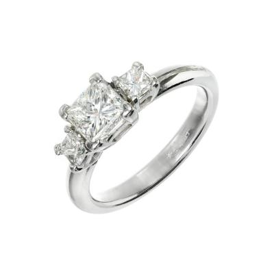 1 12 Carat Diamond Three Stone Platinum Engagement Ring