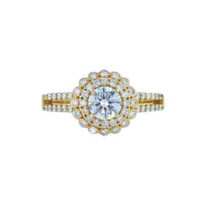 1 27 Carat Total Diamond Weight halo engagment ring with Rose Gold