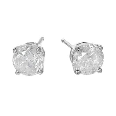 1 46 Carat Diamond White Gold Stud Earrings