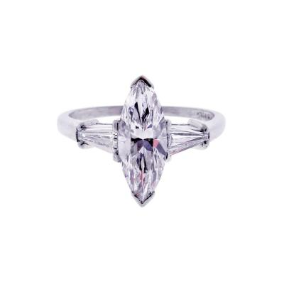 1 80 carat D VS2 Marquise Diamond Ring