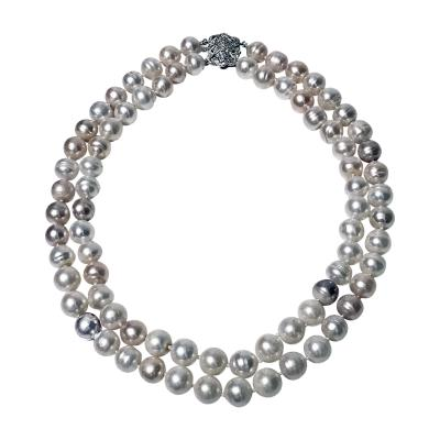 10 50 11 50 mm Freshwater Cultured Pearl double Necklace