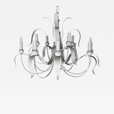 12 Light Tole Chandelier