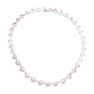 14 Karat Diamond Necklace 27 1 Grams Weight