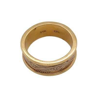 14 Karat Two Toned Gold Fashion Wedding Ring