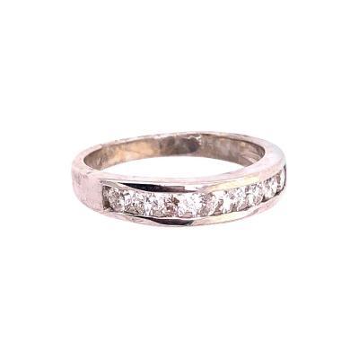 14 Karat White Gold Bridal Ring Wedding Band 0 80 Total Diamond Weight