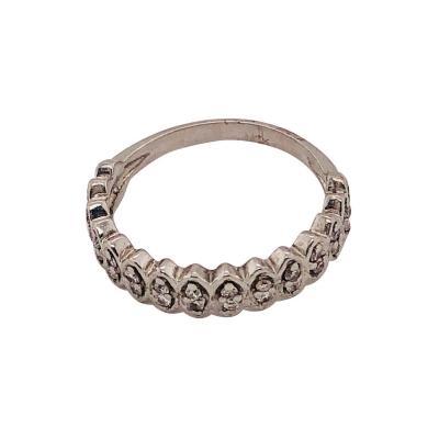 14 Karat White Gold Diamond Wedding Band Anniversary Bridal Ring 0 75 TDW