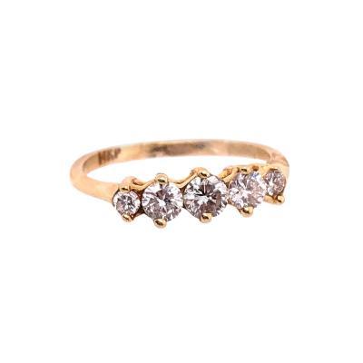 14 Karat Yellow Gold Diamond Ring Wedding Band Anniversary Engagement 0 50 TDW