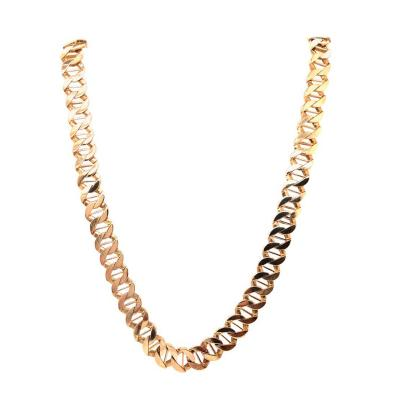 14 Karat Yellow Gold Fancy Link Necklace