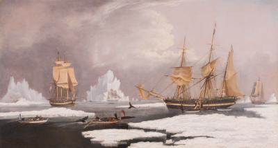 William John Huggins The Northern Whale Fishery Dated 1835