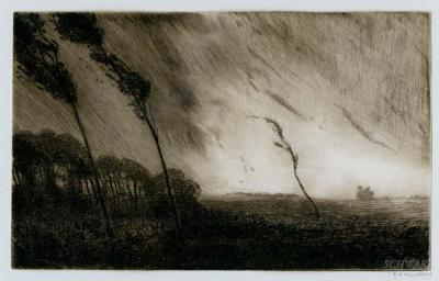 Robertson Kirtland Mygatt Trees Blowing in a Storm