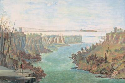 Nicolino Vicompte Calyo Suspension Bridge over the Niagara