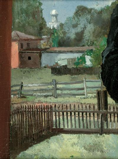 Charles Lewis Fussell View from the Artists Back Yard
