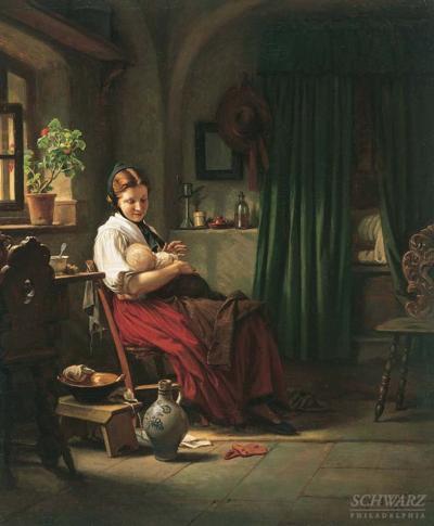 Carl Bertling Girl in an Interior