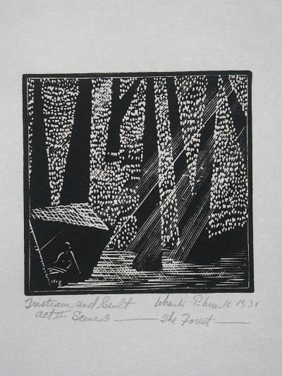 Wharton Esherick Tristram and Iseult Act II Scene 3 The Forest 1931
