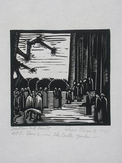 Wharton Esherick Tristram and Iseult Act II Scene 2 The Castle Garden 1931