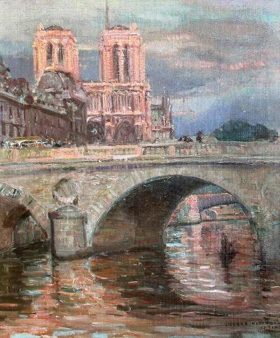Joseph Kleitsch Pont St Michel 1927