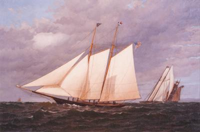 Warren Sheppard Yacht CORNELIA at the New York Yacht Club Regatta