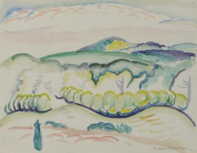 William Zorach A Very Distant View c 1913