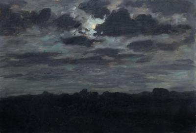 Lockwood De Forest Storm Over Moonlight Landscape