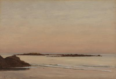 Lockwood De Forest Low Tide Maine Coast c 1903