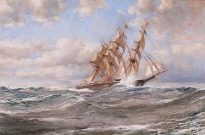 Montague Dawson The Clipper BLUE JACKET