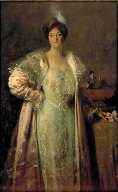 William Merritt Chase Miss J Content Aline Johnson c 1900