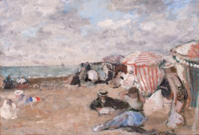 Francois Gall A Day at the Beach c 1948