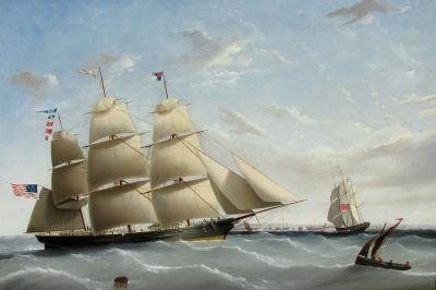 John Tudgay Clipper EMPRESS OF THE SEAS Off England c 1854