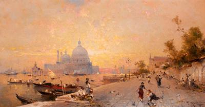 Franz Richard Unterberger Venice Under Sunset c 1880