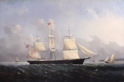 William Bradford Ship Harry Bluff by William Bradford c 1856