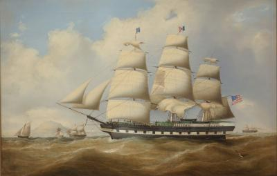 Duncan McFarlane The American Ship Continent by Duncan McFarlane c 1855