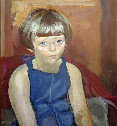 Alix Aym Young Girl Wearing a Blue Dress