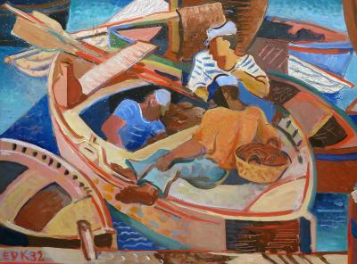 Edmund Daniel Kinzinger Fishermen at Saint Tropez