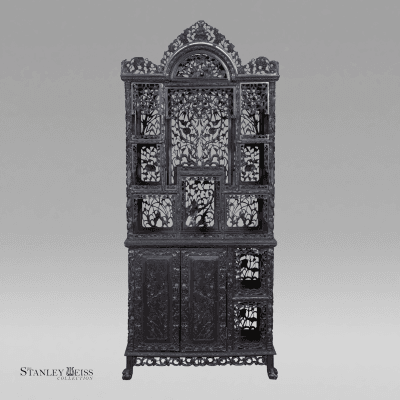 A Magnificent Display Cabinet Etagier China late 19th early 20th century