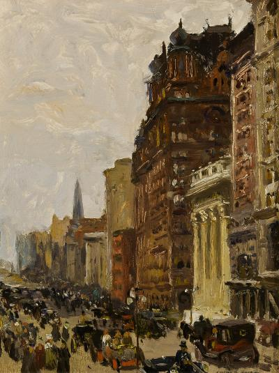 Colin Campbell Cooper Waldorf Astoria New York c 1908