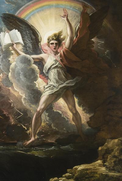 Benjamin West A Mighty Angel Standeth upon the Land and upon the Sea c 1797