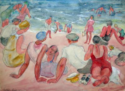 Odilon Roche Sur La Plage At The Beach