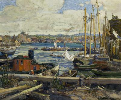 Edward J Holslag Gloucester Harbor c 1919