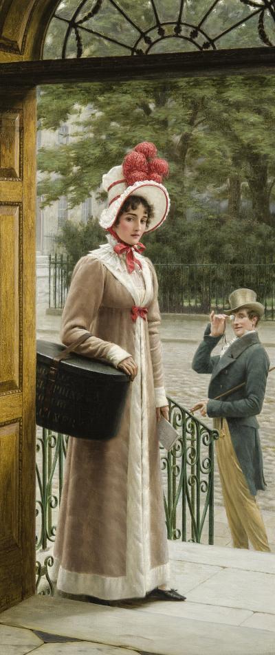 Edmund Blair Leighton Delivering the New Hat c 1904