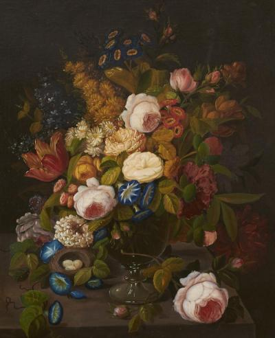 Severin Roesen Still Life with Flowers Severin Roesen 1815 1872 circa 1865 1870
