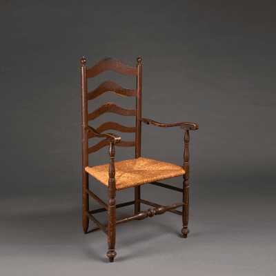 Turned Armchair circa 1760 Delaware River Valley