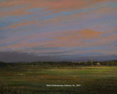 Ken Salaz Sunset looking East Hampton NY