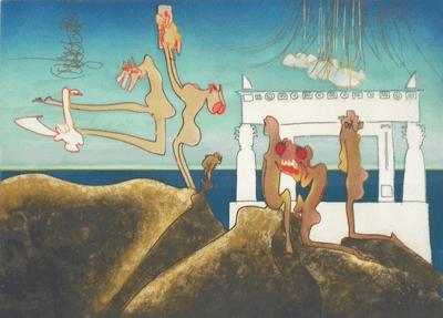 Roberto Matta Signed Roberto Matta Surrealist Lithograph ed 22 33