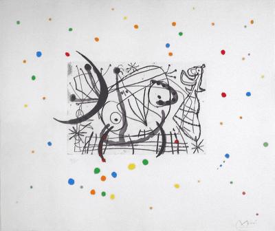 Joan Miro Signed Joan Miro Surrealist Lithograph ed 26 75 c 1960