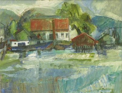 William Morehouse 1950s Abstract Impressionist Landscape William Morehouse