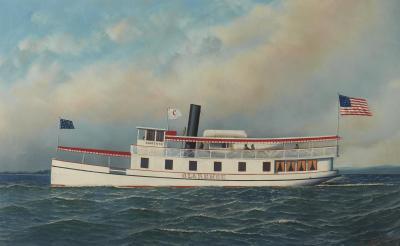 Antonio Nicolo Gaspara Jacobsen The Steamship Clarence by Antonio Jacobsen 1850 1921